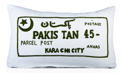 Vintage Pakistan Post Cushion