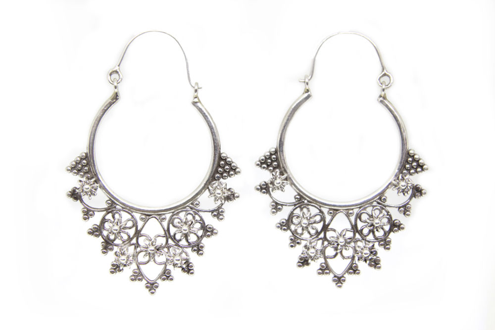 Tribal Filigree Hoops
