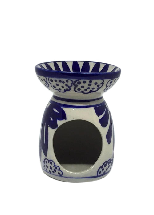 Multan Oil Burner - Blue and white floral