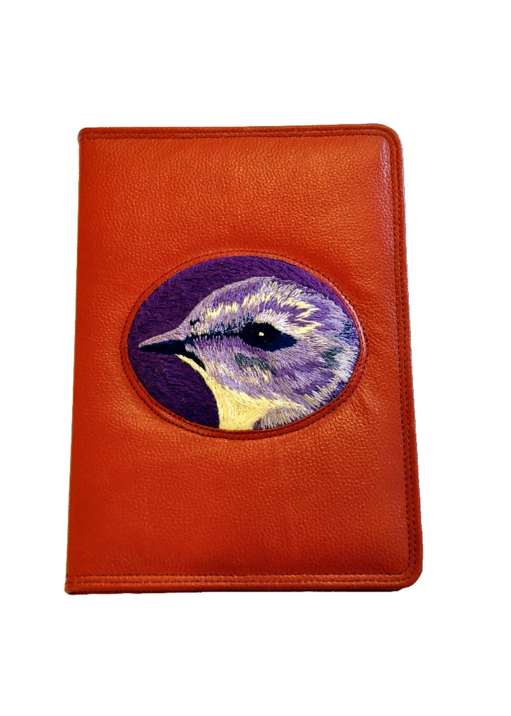 Polly Leather Journal - Suffragette purple on bold red