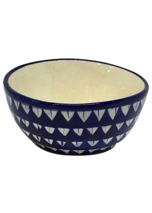 Medium Bowl with Slant - Jhandi Triangle