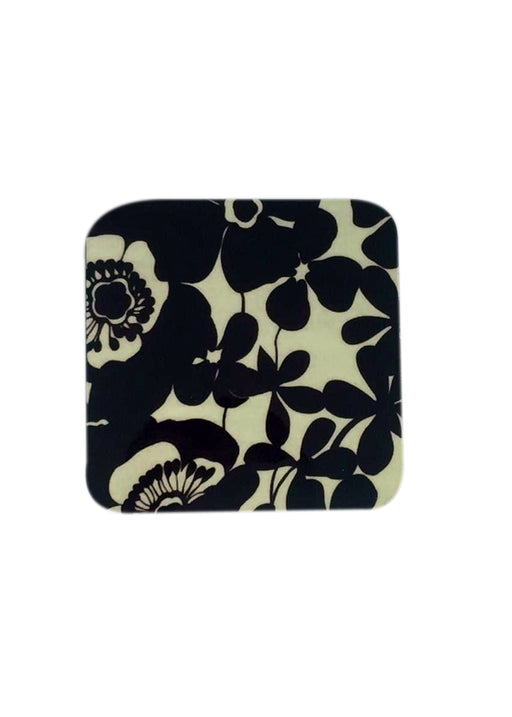 Black and White Flower Coaster