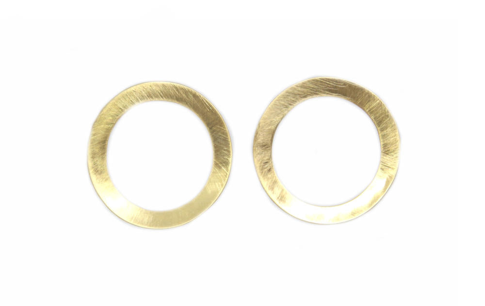 Concave Gold Earrings
