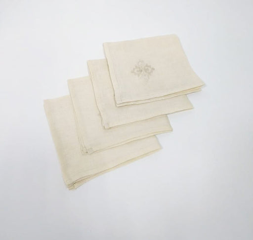 Napkins with embroidery - set of 4