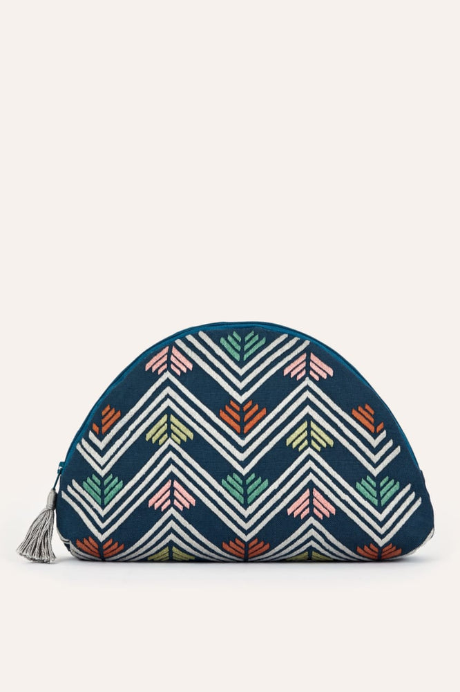 Clutch Bag - Multi on Blue