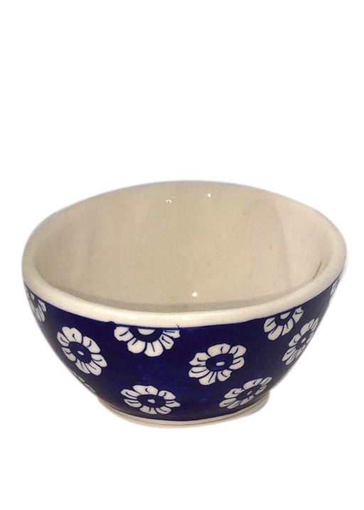 Medium Bowl with Slant - Blue Flower