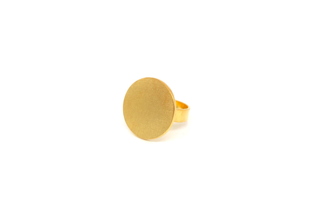 Round Gold Plated Ring
