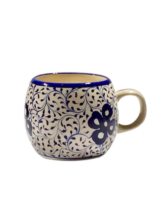 Round Mug - Four Leaves in Swirl