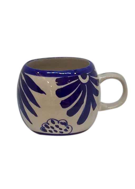 Round Mug - Blue and White Floral