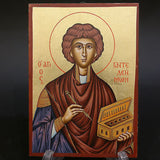 Serigraph Icon of Saint Panteleimon 17x12cm