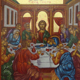 "Serigraph Icon ""The Lord's Supper"" 17x12cm"