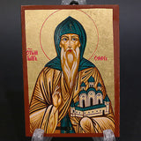Greek Russian Orthodox Serigraph Icon Handmade Byzantine Saint Oleg 12x9cm