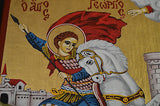Orthodox Icon Handpainted Greek Byzantine Tempera Saint George Святой Георгий