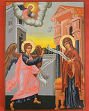 Orthodox Icon Handmade Serigraphy Byzantine Annunciation 308x228mm