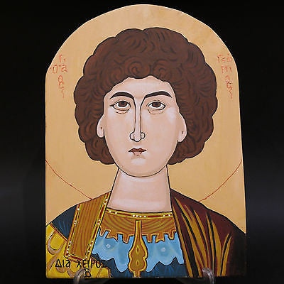 Greek Russian Orthodox Handpainted Icon Saint George 29x20,5cm