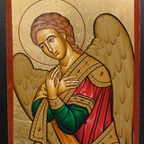Greek Russian Orthodox Serigraph Icon Handmade Byzantine Angel Gabriel 12x9cm