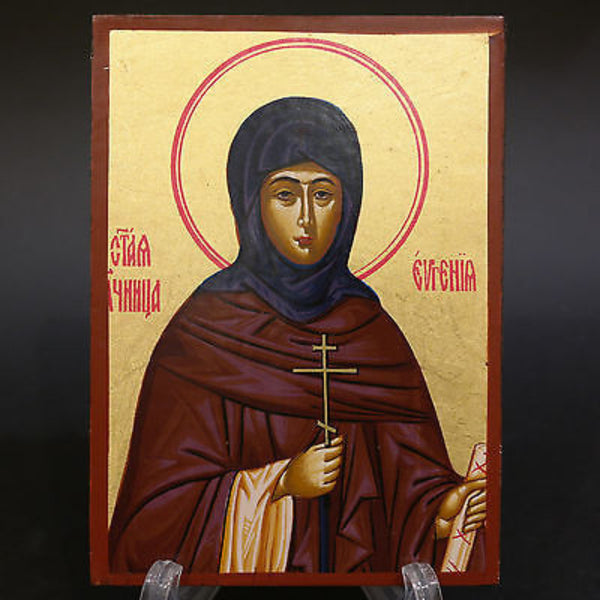 Serigraph Icon of Saint Evgenia 17x12cm