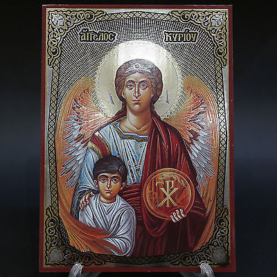 Orthodox Icon Greek Russian Lithograph Angel of Lord 25x18cm