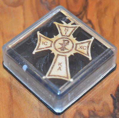 Greek Russian Orthodox Necklace Pendant  Wood Cross