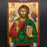 Greek Russian Orthodox Serigraph Icon Handmade Saint Jesus Christ 12x9cm