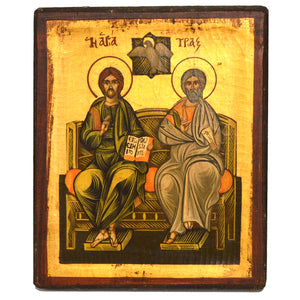 Handpainted Icon of Holy Trinity 22x18,2cm