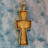 Gold plated sterling silver .925 cross XS051