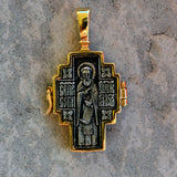 Gold plated sterling silver .925 cross BS017