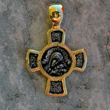 Gold plated sterling silver .925 cross XS010