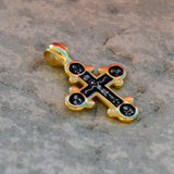 Gold plated sterling silver .925 cross XS019