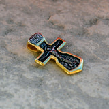 Gold plated sterling silver .925 cross XS046