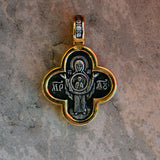 Gold plated sterling silver .925 cross BS007