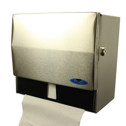 Standard Stainless Steel Front Loading Paper Towel Dispenser