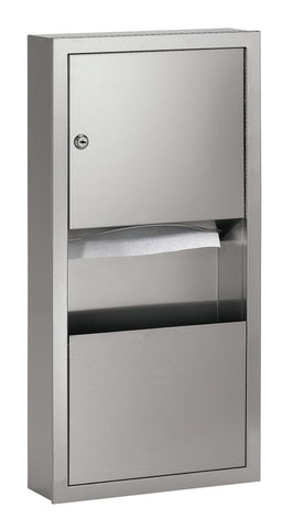 Stainless Steel Paper Towel/Waste Receptacle Combo
