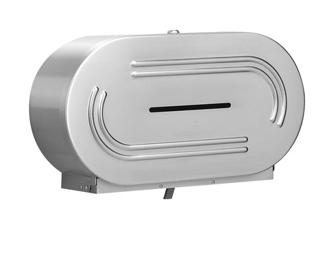 Double Roll, Stainless Steel Toilet Tissue Dispenser
