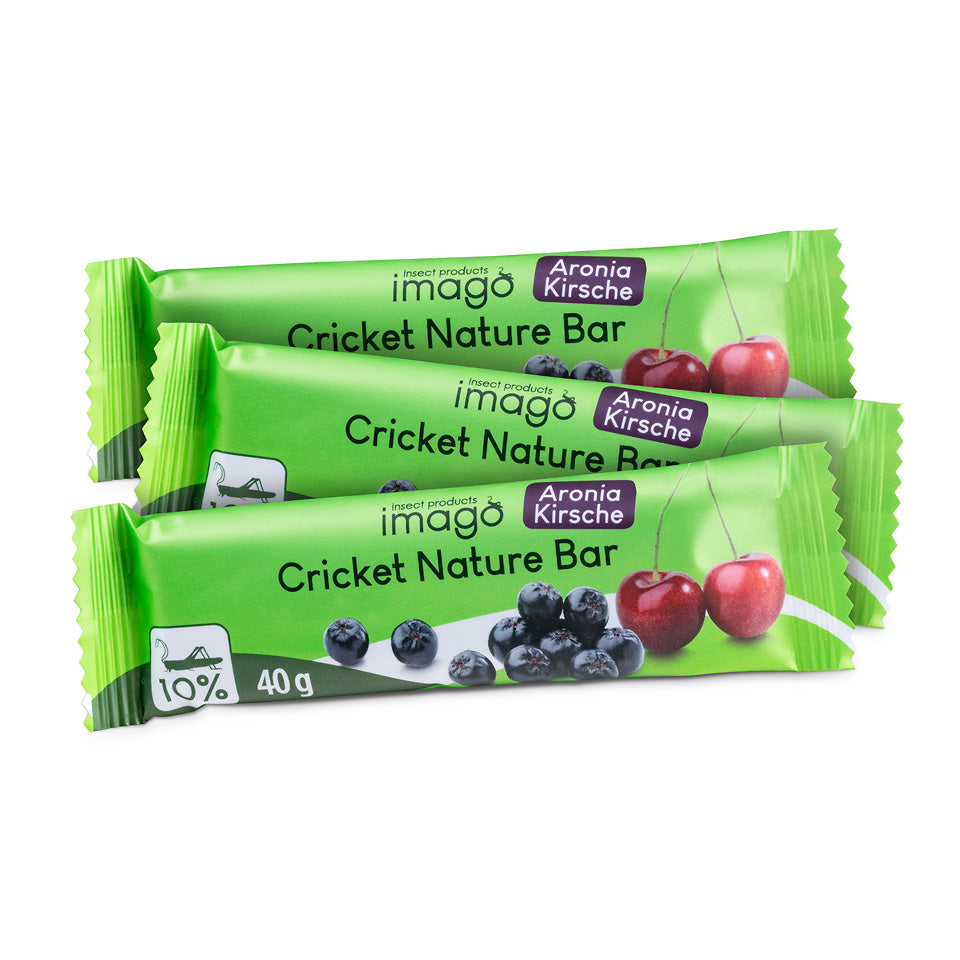 Cricket Nature Bar - Aronia Kirsche - Probierset 3 Riegel