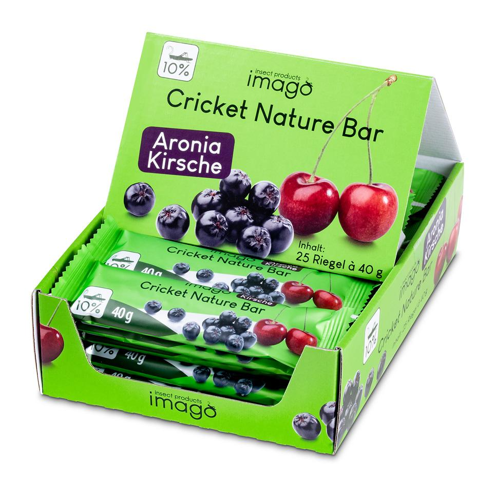 Cricket Nature Bar - Aronia Kirsche - Box mit 25 Riegeln