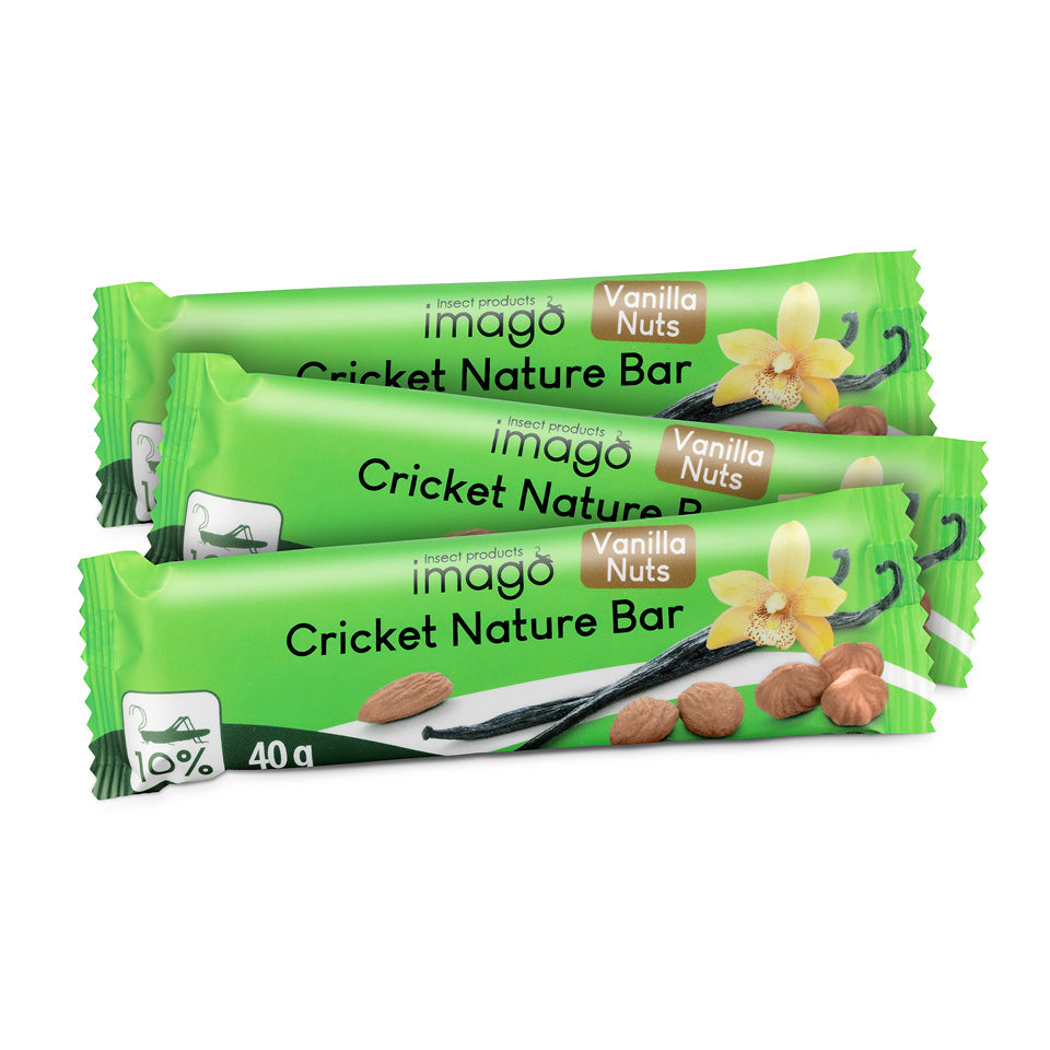 3x Insektenriegel Cricket Nature Bar - Vanilla Nuts
