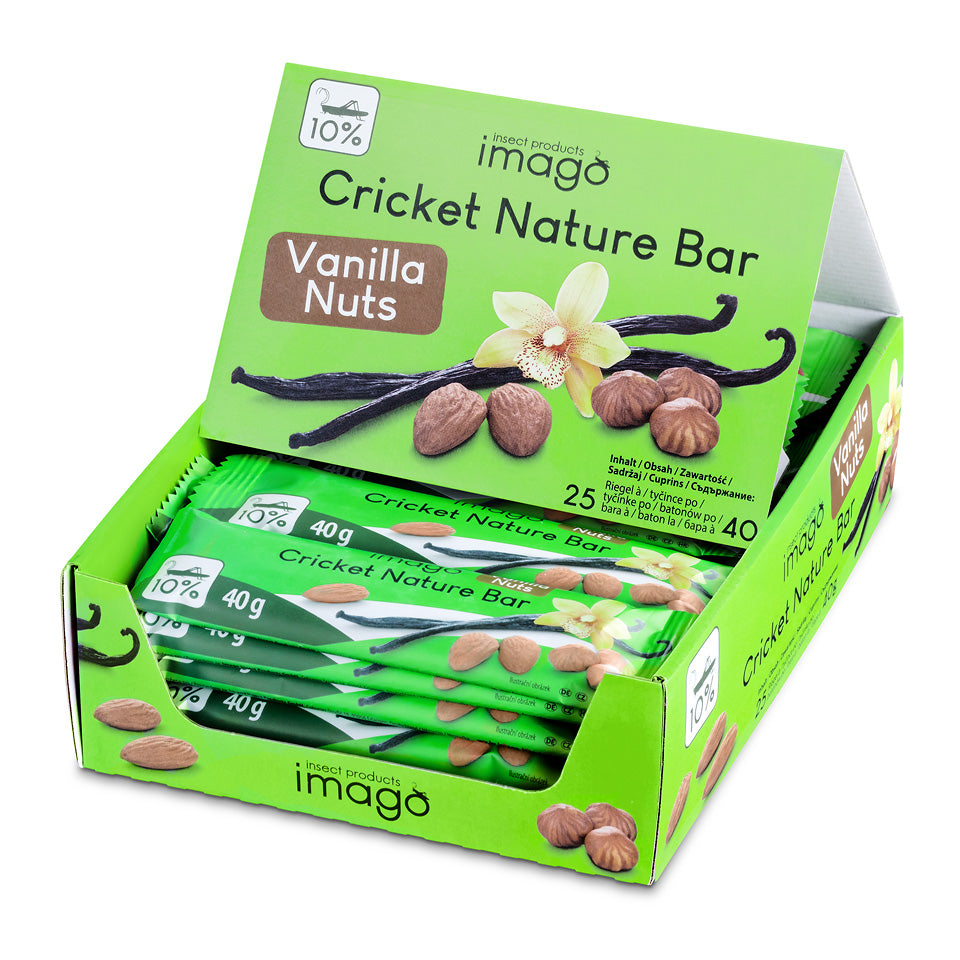 Cricket Nature Bar - Vanilla Nuts - Box mit 25 Riegeln
