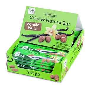Insektenriegel Cricket Nature Bar - Vanilla Nuts - Box offen