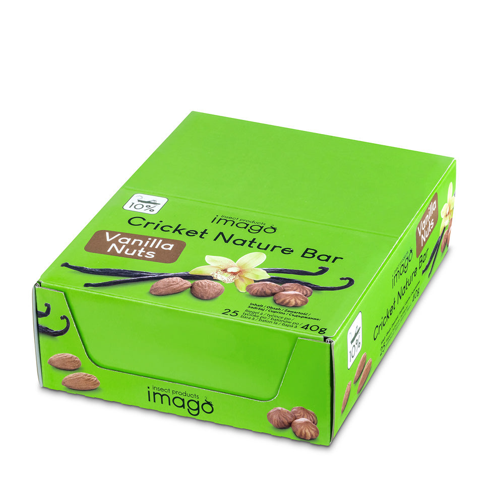 Insektenriegel Cricket Nature Bar - Vanilla Nuts - Box geschlossen