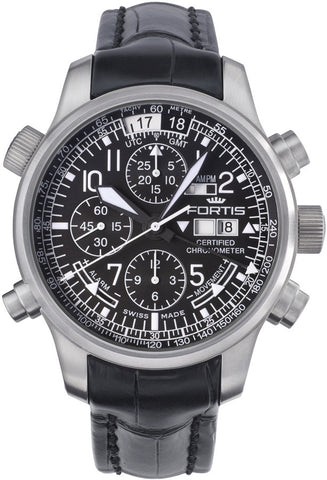FORTIS F-43 Flieger Chronograph Alarm GMT (Limitierte Edition) - Ref. 703.10.11 L01
