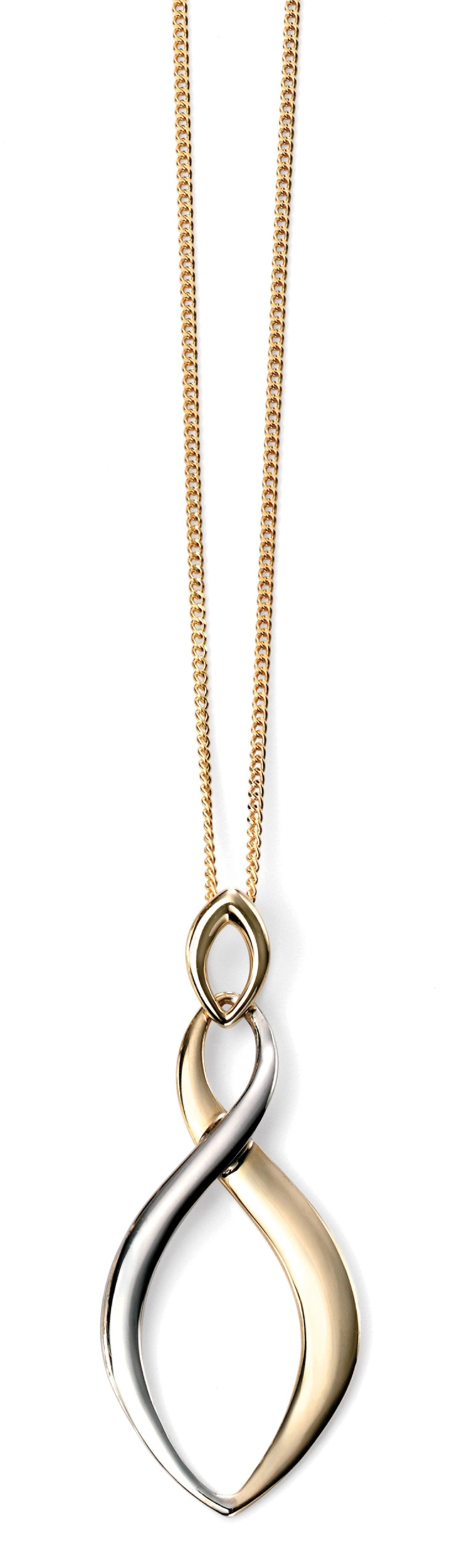 9ct Yellow & White Gold Twist Pendant