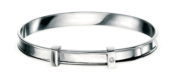 Childrens Sterling Silver Expanding Bangle SV306B - Jay's Jewellery