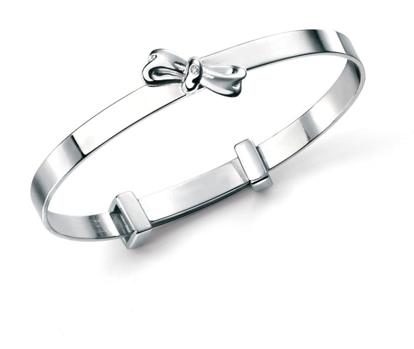 Childrens Sterling Silver Expanding Bangle SV4781B - Jay's Jewellery
