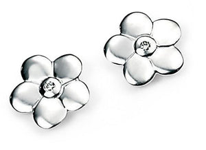 Childrens Sterling Silver Flower Stud Earrings SV3504E - Jay's Jewellery