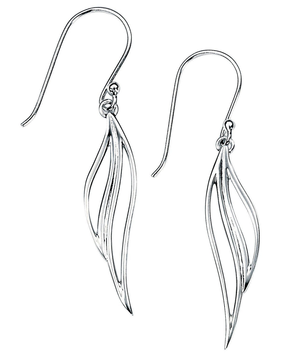 Sterling Silver Leaf Drop Earrings SV4746E - Jay's Jewellery