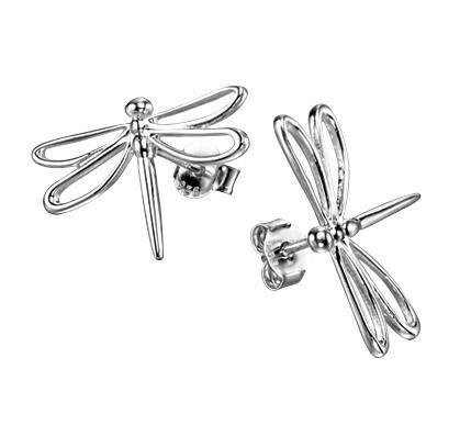 Sterling Silver Dragonfly Stud Earrings SV4882E - Jay's Jewellery