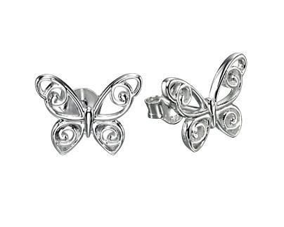 Sterling Silver Butterfly Stud Earrings SV4883E - Jay's Jewellery