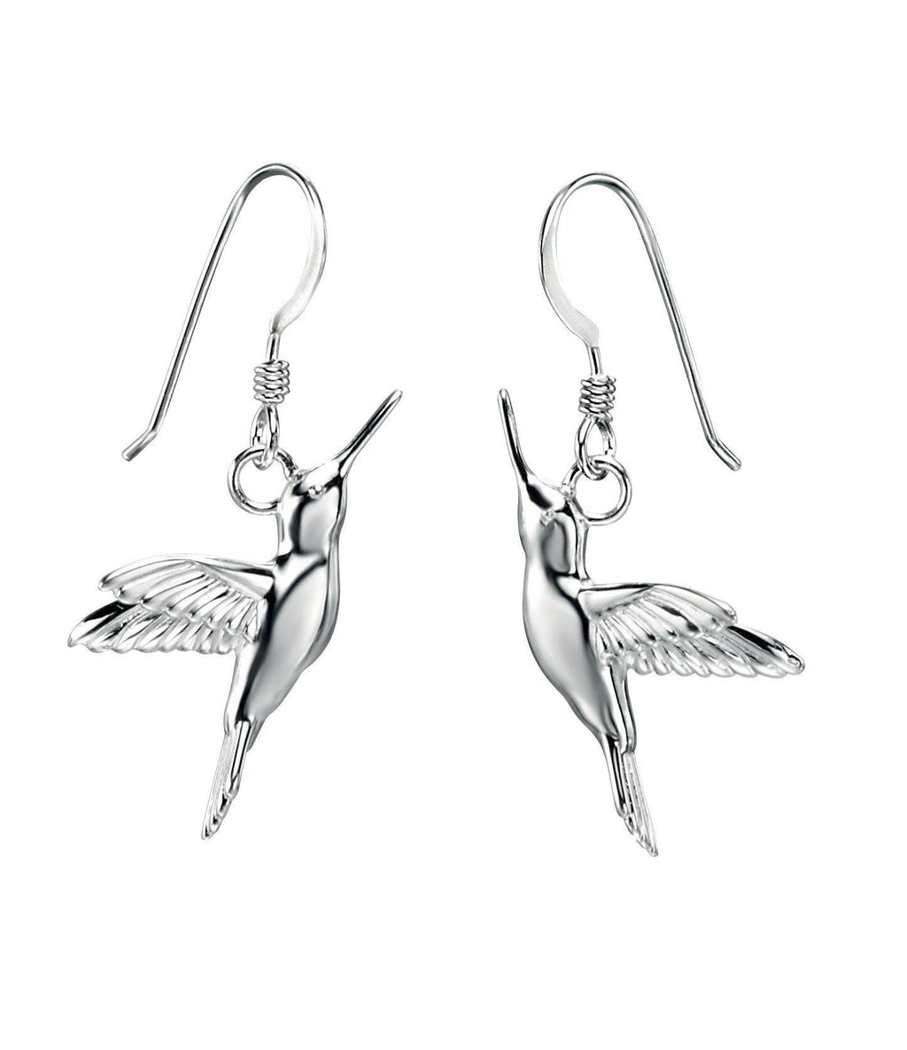 Sterling Silver Hummingbird Drop Earrings SV4887E - Jay's Jewellery