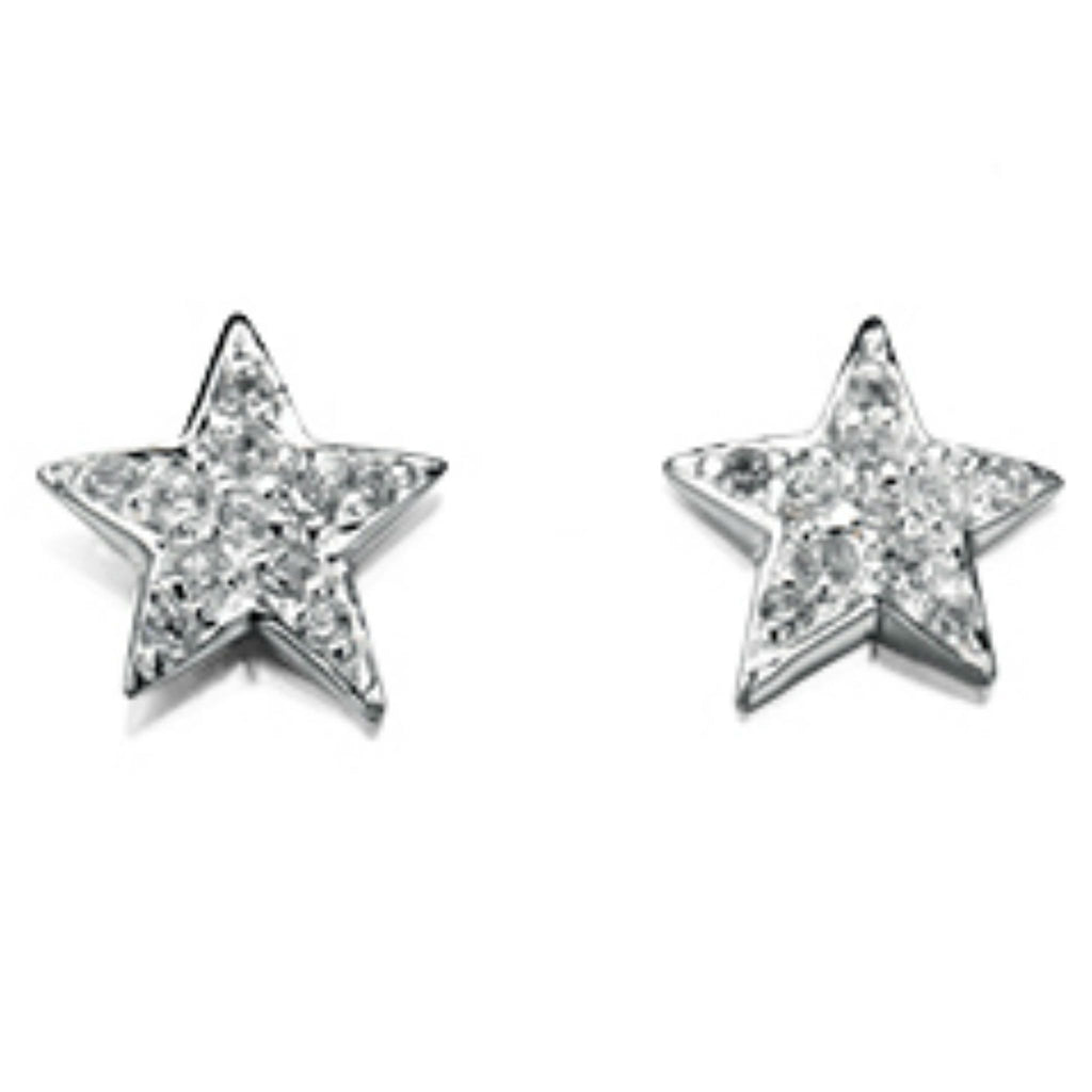 Sterling Silver Star Stud Earrings SV4078EC - Jay's Jewellery